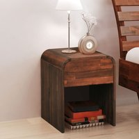 Thor 1 Drawer Bedside Table by Brown - Union Rustic