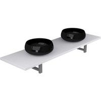 Three Piece Bathroom Furniture Set Ceramic White - VIDAXL