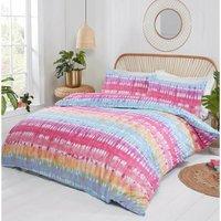 Tie Dye Multi King Size Duvet Cover Set Bedding Bed Quilt Set