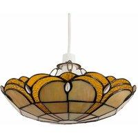 Tiffany Ceiling Pendant Light Shade - Amber Jewel - MINISUN