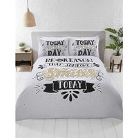 Today Is The Day King Size Duvet Cover Set Bedding Quilt Set Black White Gold