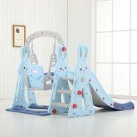Augienb - Toddler Climber Kids Slide Play Swing Set Indoor/Outdoor Playground Blue