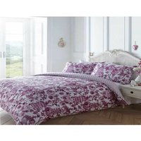 Toile Oriental Single Duvet Quilt Cover and 1 Pillowcase Bedding Bed Set Floral Pink - BEDMAKER