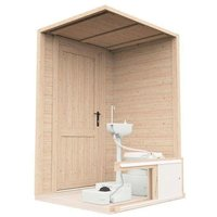 Toilet Cubicle Set John - Indoor Lean-to Walls with Sink Water System