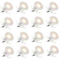 16PCS 0.6W High Bright Recessed LED Deck Light Water Resistance IP67 - Tomshine