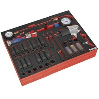 TBTP08 Tool Tray with Impact Wrench, Sockets and Tyre Tool Set 42pc - Sealey