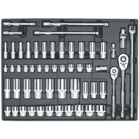 Sealey TBT31 Tool Tray with Socket Set 55pc 3/8 and 1/2Sq Drive