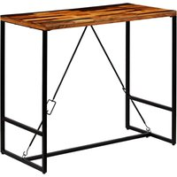 Topdeal Bar Table Solid Reclaimed Wood 120x60x106 cm VDTD12223