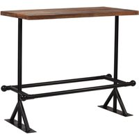 Topdeal Bar Table Solid Reclaimed Wood Dark Brown 120x60x107 cm VDTD11372