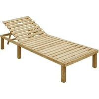 VDTD46867_FR Chaise longue Bois de pin imprégné - Topdeal