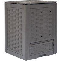 VDTD29806_FR Composteur de jardin Marron 60x60x83 cm 300 L - Topdeal
