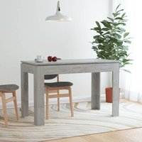 Topdeal Dining Table Concrete Grey 120x60x76 cm Chipboard VDTD47169
