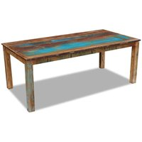 Dining Table Solid Reclaimed Wood 200x100x76 cm VDTD09734 - Topdeal