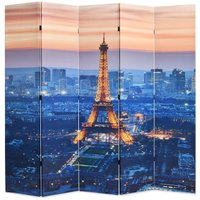 Topdeal Folding Room Divider 200x170 cm Paris by Night VDTD11814