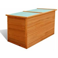 Topdeal Garden Storage Box 126x72x72 cm Wood VDTD27204