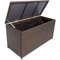Garden Storage Box Brown 120x50x60 cm Poly Rattan VDTD27046 - Topdeal