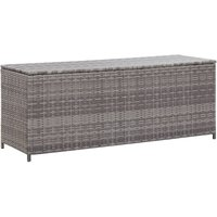 Garden Storage Box Grey 120x50x60 cm Poly Rattan VDTD45530 - Topdeal