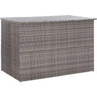 Topdeal Garden Storage Box Grey 150x100x100 cm Poly Rattan VDTD45535