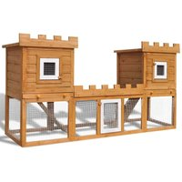 Topdeal Outdoor Large Rabbit Hutch House Pet Cage Double House VDTD06909