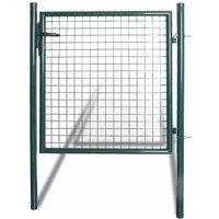 Topdeal VDTD04254_FR Portail de clôture à porte simple Acier enduit de poudre
