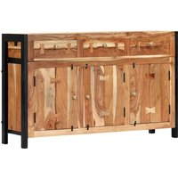 Topdeal Sideboard 120x35x75 cm Solid Acacia Wood VDTD13333