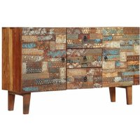Topdeal Sideboard Solid Reclaimed Wood 140x40x80 cm VDTD12598