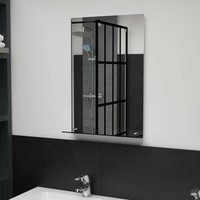 Topdeal Wall Mirror with Shelf 40x60 cm Tempered Glass VDTD35788