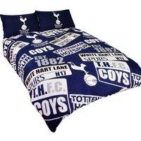 Tottenham Hotspur FC Childrens/Kids Official Patch Football Crest Duvet Set (Double) (Navy/White)