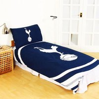 Official Pulse Design Reversible Duvet And Pillowcase Set (Single) (Navy) - Tottenham Hotspur Fc