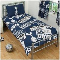 Tottenham Hotspur Patch Single Duvet And Pillow Set (One Size) (Multicoloured)