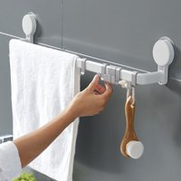 Towel holder, Wall-mounted towel holder Napkin holder without drilling with powerful force reusable Towel bar for bathroom kitchen