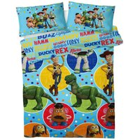 Toy Story 4 Reversible Duvet Set (Double) (Blue)