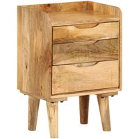 Tracey 3 Drawer Bedside Table by Bloomsbury Market - Brown