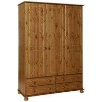 Tracy Three Door Wardrobe - Pine