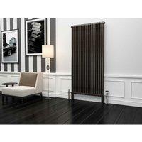 Premium Raw Metal Lacquer Vertical 2 Column Radiator 1800mm x 879mm - Traderad