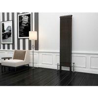 Premium Raw Metal Lacquer Vertical 3 Column Radiator 1800mm x 429mm - Traderad