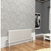 Premium White 2 Column Horizontal Radiator 600mm x 1239mm - Traderad