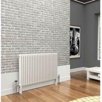 Premium White 3 Column Horizontal Radiator 750mm x 1014mm -