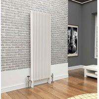 Premium White 3 Column Vertical Radiator 1800mm x 519mm - Traderad