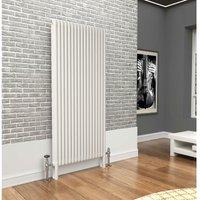 Premium White 3 Column Vertical Radiator 1800mm x 789mm - Traderad