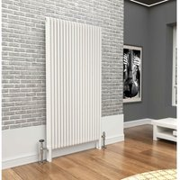 Premium White 3 Column Vertical Radiator 1800mm x 924mm - Traderad