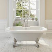 Park Lane - Traditional 1500 Freestanding Bath Double Ended Roll Top Legs Included White