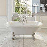 Park Lane - Traditional Bathroom Suite Freestanding Roll Top Bath Pedestal Basin and Toilet