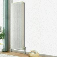 Traditional Cast Iron Style Radiator 1800x562mm Vertical 3 Column White