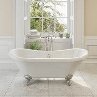 Traditional Freestanding Bath Double Ended Roll Top Ball Feet 1750mm Blenheim - PARK LANE