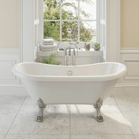 Traditional Freestanding Bath Roll Top Double Ended Dragon Feet 1750mm Blenheim - PARK LANE