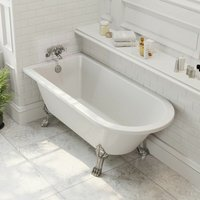 Traditional Freestanding Bath Roll Top Single Ended Dragon Feet 1500mm Worcester - PARK LANE