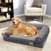 Traditional Large Dog Bed Pet Cuddler Couch Lounger Removable Cover - Brown - Size XL - BINGO PAW