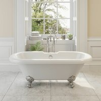 Traditional Oxford Freestanding Bath Double Ended Ball Feet 1700mm Acrylic White