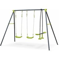 3-piece swing set - Tramontane - Swing set with 2 swings and 1 tandem swing, swing height 195cm